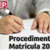 CPGEP divulga os procedimentos para matrículas de 2020/2